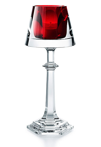 Baccarat Harcourt My Fire Red Candleholder