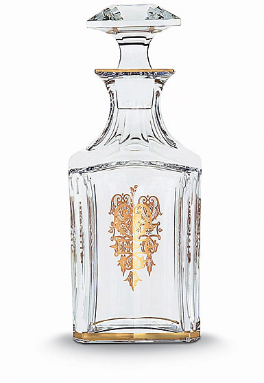 Baccarat Crystal, Harcourt Empire Square Whiskey Crystal Decanter