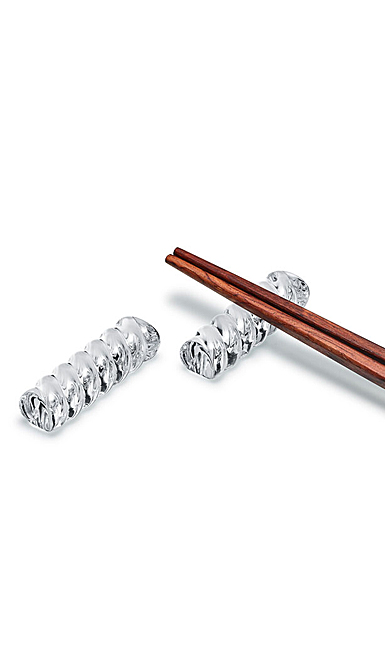 Baccarat Bambou Chopsticks Holder, Pair