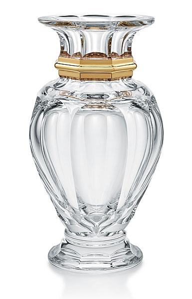 """Baccarat Harcourt Baluster 12.5"""" Vase, Gold"""