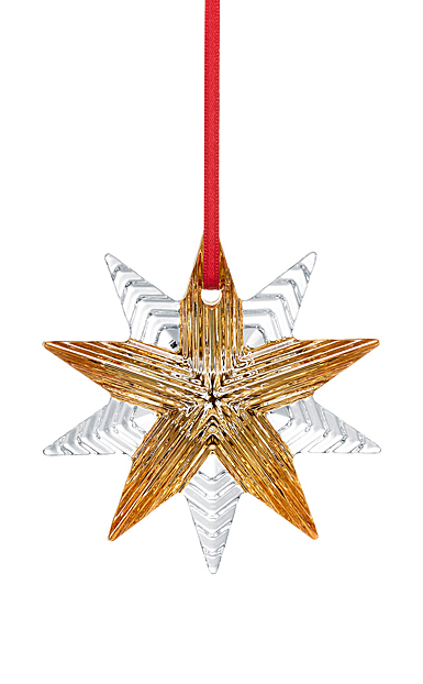 Baccarat 2021 Annual Christmas Ornament, 20k Gold and Clear