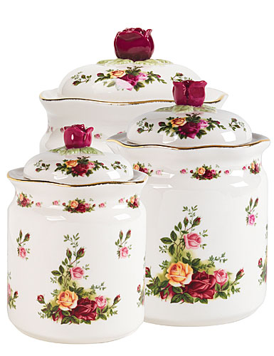 Royal Albert Old Country Roses Canisters, Set of 3