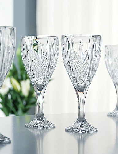 Galway Crystal Abbey Goblet, Set of 4