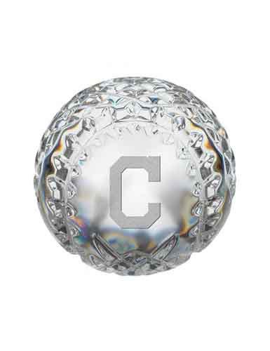 Waterford MLB Cleveland Indians Crystal Baseball