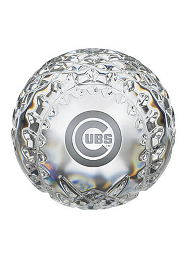 Waterford Crystal, Chicago Cubs Crystal Baseball Crystal Paperweight