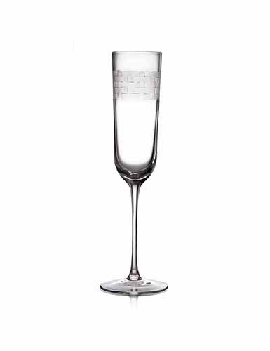 Michael Aram, Palm Crystal Champagne Flute, Single