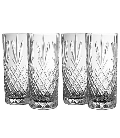 Galway Crystal Renmore Hiball Glasses, Set of Four