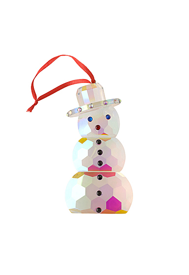 Villeroy and Boch 2020 Crystal Gems Iridescent Snowman Ornament