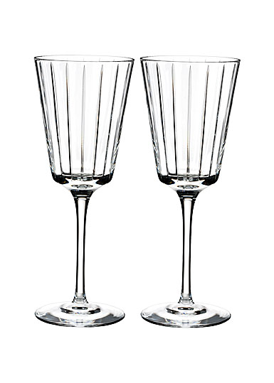 Rogaska Crystal, Avenue Crystal White Wine, Pair