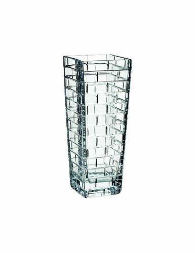 "Rogaska Crystal, Quoin 12 1/2"" Square Crystal Vase"
