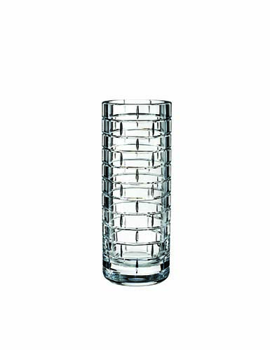 "Rogaska Crystal, Quoin Round 12"" Crystal Vase"