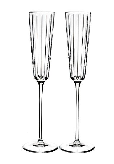 Rogaska Crystal, Avenue Champagne Crystal Flute, Pair