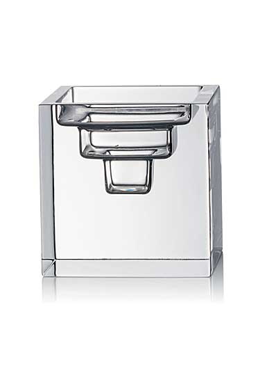 Rogaska Manhattan City Large Square Candleholder, Clear