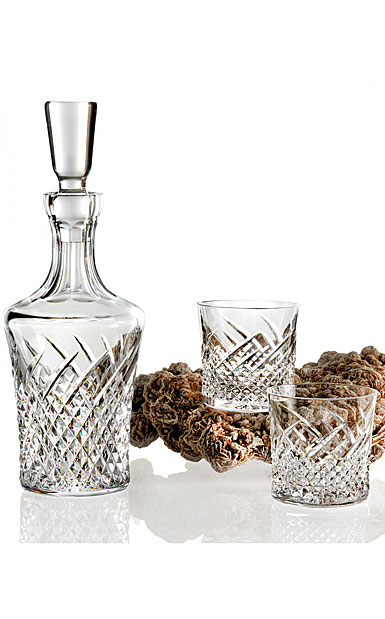 Waterford House of Waterford Wild Atlantic Way Decanter and 2 Rock Glasses, Set