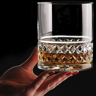 Cashs Crystal Cooper King Size 3OF Scotch Whiskey Glass, Pair