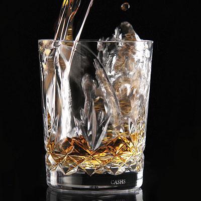 Cashs Crystal Annestown Single Malt Whiskey Glasses, Pair