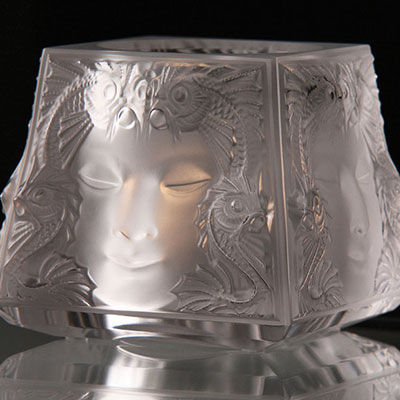 Lalique Crystal, Masque De Femme Crystal Votive