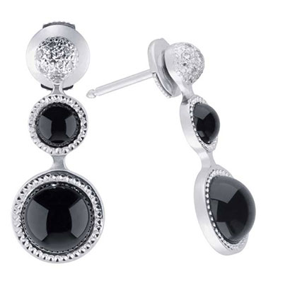 Lalique Petillante Earrings, Black