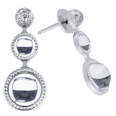 Lalique Petillante Earrings, Clear
