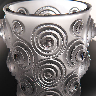 Lalique Crystal, Byzance Spirales Small Crystal Vase
