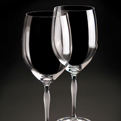 Lalique Crystal, 100 Points Bordeaux Crystal Glasses By James Suckling, Set of 6
