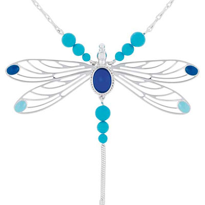 Lalique Libellule Collier, Blue