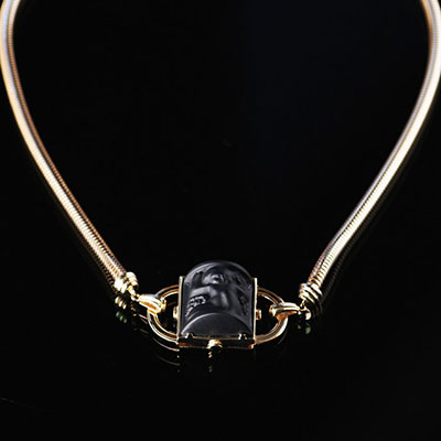 Lalique Nysa Necklace, Noir