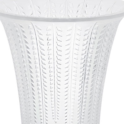 Lalique Crystal, Glycines Flared Crystal Vase