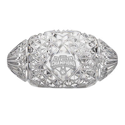 Waterford Crystal, 2018 College Football National Champions Clemson Tigers Football Paperweight