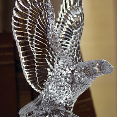 Waterford Crystal, Fred Curtis Eagle Crystal Sculpture