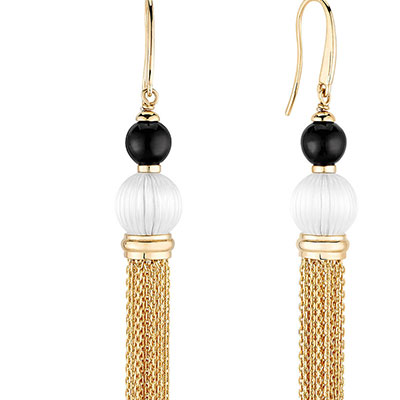 Lalique Vibrante Tassel Earrings, Gold Vermeil