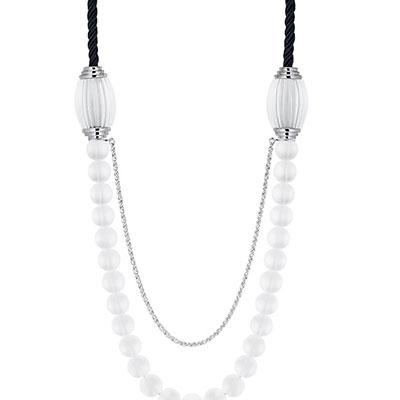 Lalique Vibrante Long Necklace, Silver