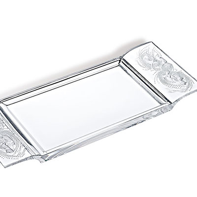 Lalique Crystal, Naiades Tray, Clear