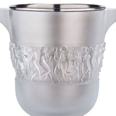 Lalique Crystal, Bacchantes Crystal Champagne Cooler, Clear