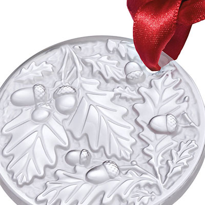 Lalique 2016 Annual Christmas Ornament Chene, Clear