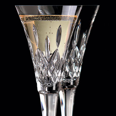 Waterford Crystal, Classic Lismore Toasting Crystal Flutes, Pair