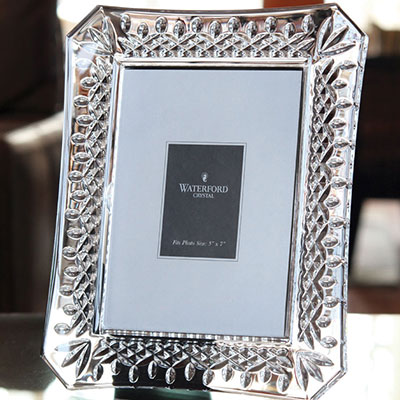 "Waterford Crystal, Lismore 4x6"" Picture Frame"