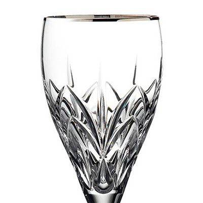 Marquis by Waterford Crystal, Caprice Platinum Crystal Goblet, Single