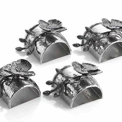 Michael Aram Black Orchid Napkin Ring, Set of 4