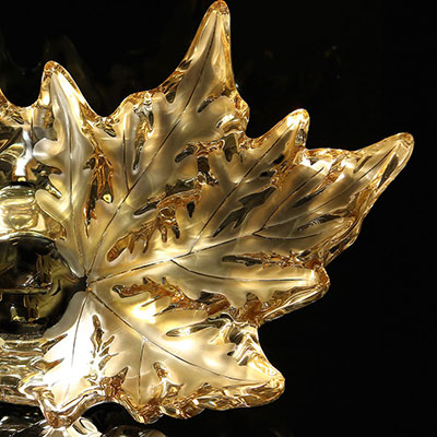 Lalique Champs-Elysees Gold Luster Bowl