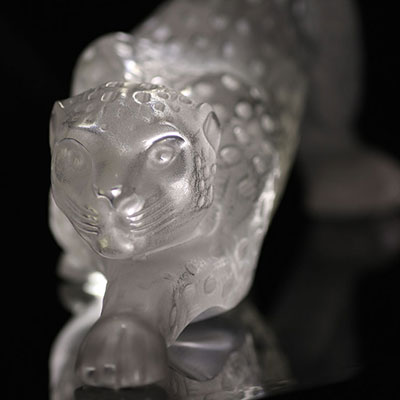 Lalique Crystal, Zeila Clear Panther Sculpture