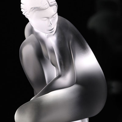 Lalique Crystal, Nude Venus Sculpture, Petite