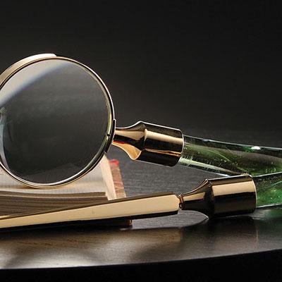 Cashs Ireland, Art Glass Forty Shades of Green, Desk Set