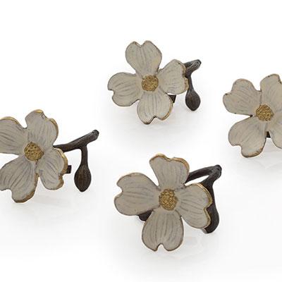 Michael Aram Dogwood Napkin Ring, Set of 4