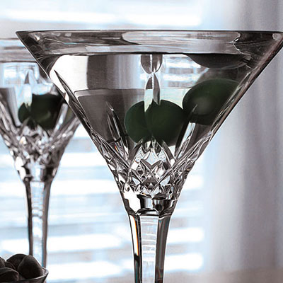 Waterford Lismore Tall Martini, Pair