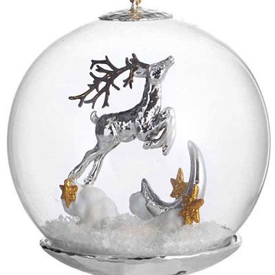 Michael Aram 2017 Reindeer Snow Globe Ornament