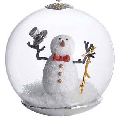 Michael Aram Snowman Snow Globe Ornament