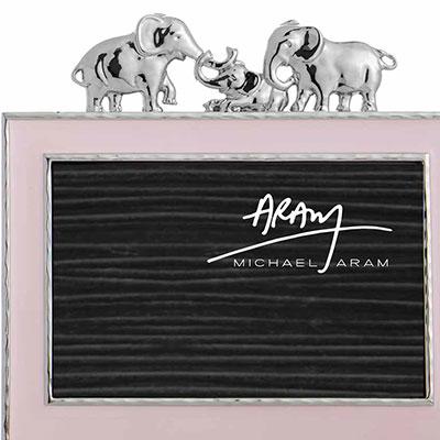 "Michael Aram Children Elephant 4x6"" Photo Frame, Pink"