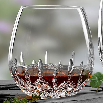 Waterford Crystal, Lismore Nouveau Stemless Light Crystal Red Wine, Pair