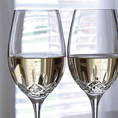 Waterford Crystal, Lismore Essence Crystal White Wine, Boxed Pair